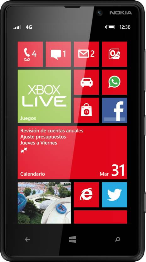 Nokia Lumia 820 (Black, 8 GB)