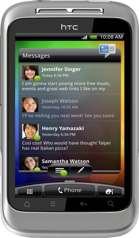 HTC Wildfire S (White Silver, 512 MB)