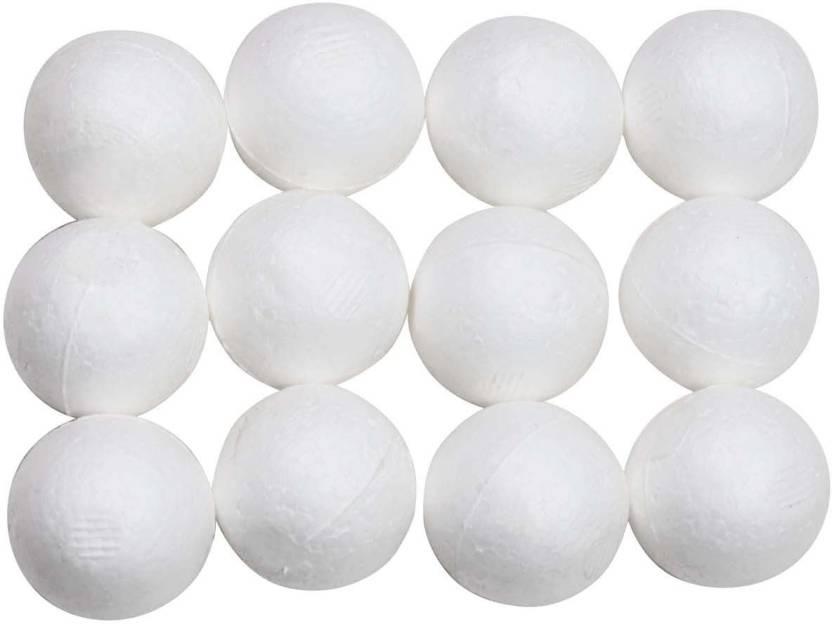 AsianHobbyCrafts White Thermocol Balls Size 1 5