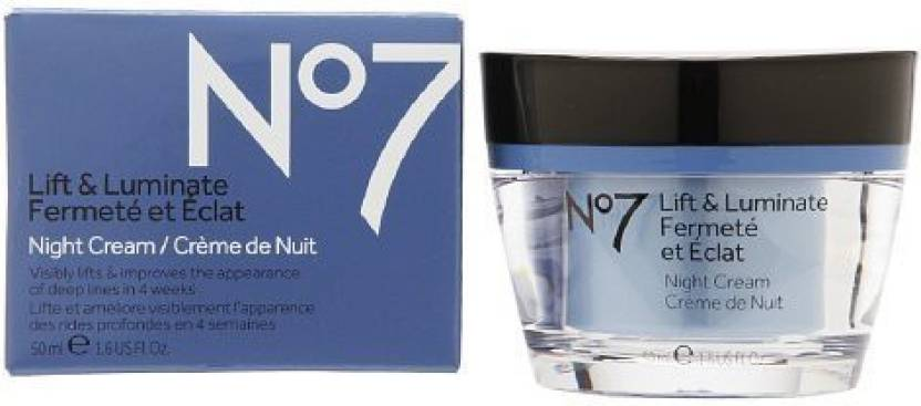 Boots No7 Lift & Luminate Night Cream 1 6 ( ) - Price in India, Buy