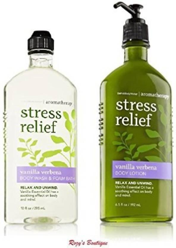 Bath Body Works Aromatherapy Stress Relief Vanilla Verbena Bundle
