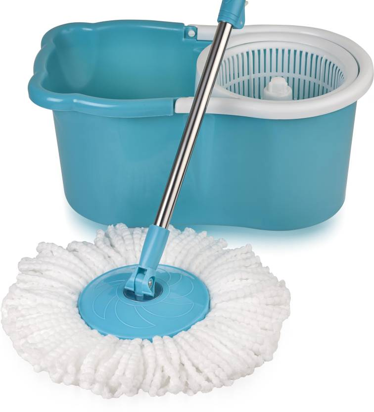 The Essential Store!! Upto 35% off On Essential Store By Flipkart | Gala Aqua Spin Mop Set  (Built in Wringer Blue, White) @ Rs.1,099