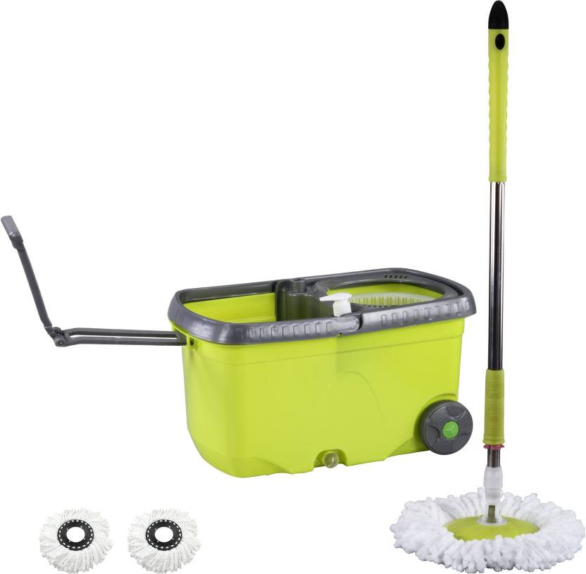 Evana Floor Cleaning Easy Magic Wheel Mops & Spin Dry Bucket With 2 Micro Fiber Mop Set Price in India - Buy Evana Floor Cleaning Easy Magic Wheel Mops ...