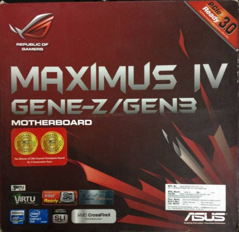 Asus MAXIMUS IV GENE-Z Motherboard