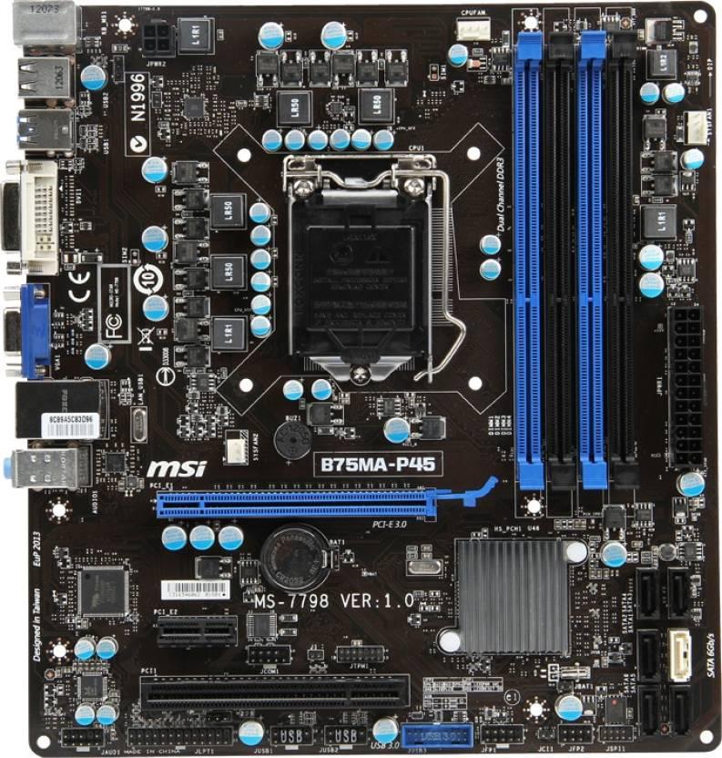 MSI B75MA-P45 Motherboard