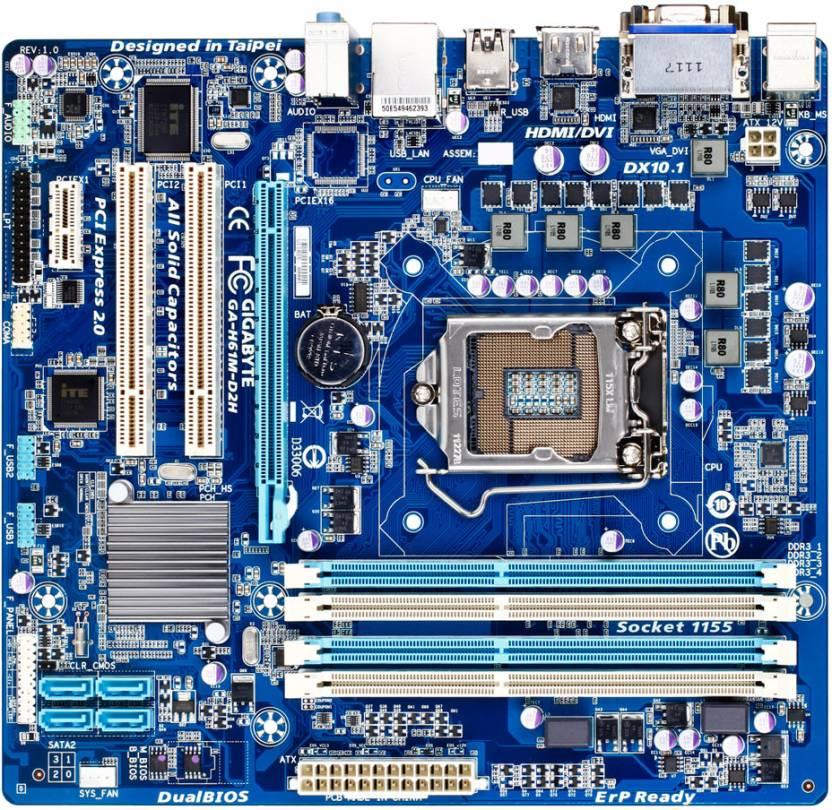 Gigabyte GA-H61M-D2H Motherboard
