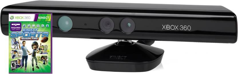 Microsoft Kinect Sensor for Xbox 360 (Free Kinect Sports Season 2) Motion  Controller
