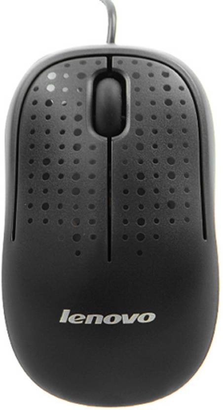 Lenovo M110 Optical Mouse Wired Optical Mouse  (USB, Black)