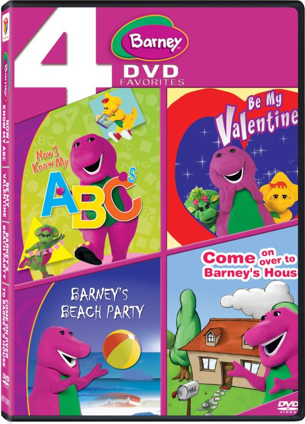 Barney 4 Dvd Pack 1 Abc Valentinebeach Party Come Over Price In
