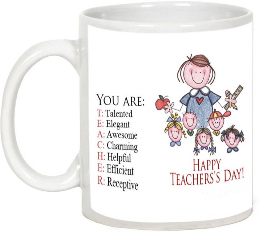 AllUPrints Teacher Defines Us Ceramic Mug