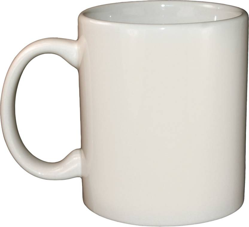 Creativeskart Plain White Ceramic Mug