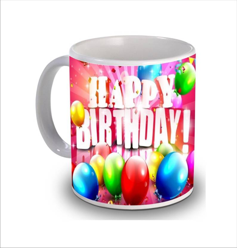 PSK Happy Birthday Cake B89 Ceramic Mug 350 Ml