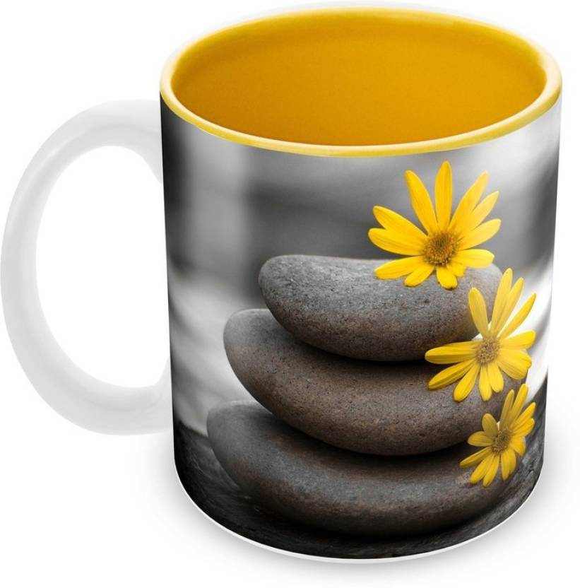 Tuelip beautiful rock with yellow flower for tea and coffee ceramic tuelip beautiful rock with yellow flower for tea and coffee ceramic mug mightylinksfo