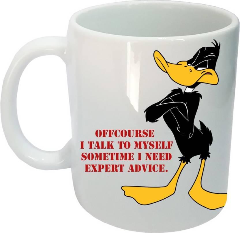 Arkist Daffy Duck Disney Quote Ceramic Mug Price in India ...