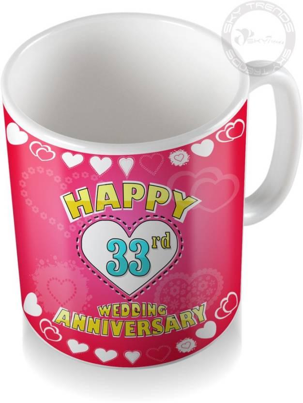 Sky Trends 33rd Happy Wedding Anniversary Coffee Ceramic Mug Price