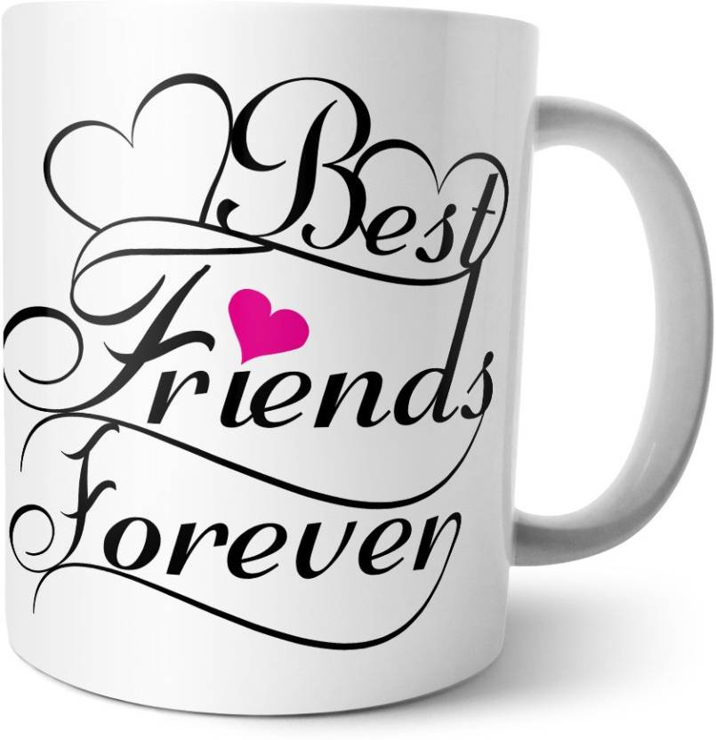 ME&YOU Happy Friendship Day - Best Friends Forever Floral Design with Quote Ceramic Mug