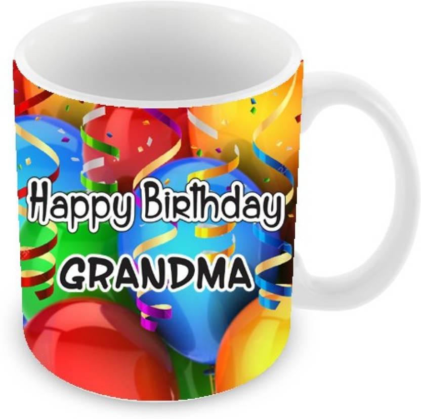 Everyday Gifts Happy Birthday Grandma Ceramic Mug 325 Ml