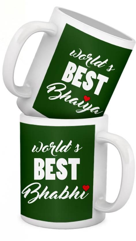 Tied Ribbons Anniversary Gift For Bhaiya Bhabhi Ceramic Mug Price In