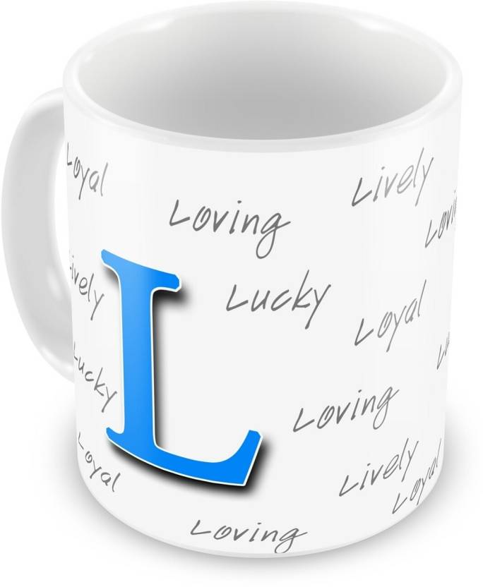 Everyday Gifts Happy Birthday Gift For Starting Letter L Ceramic