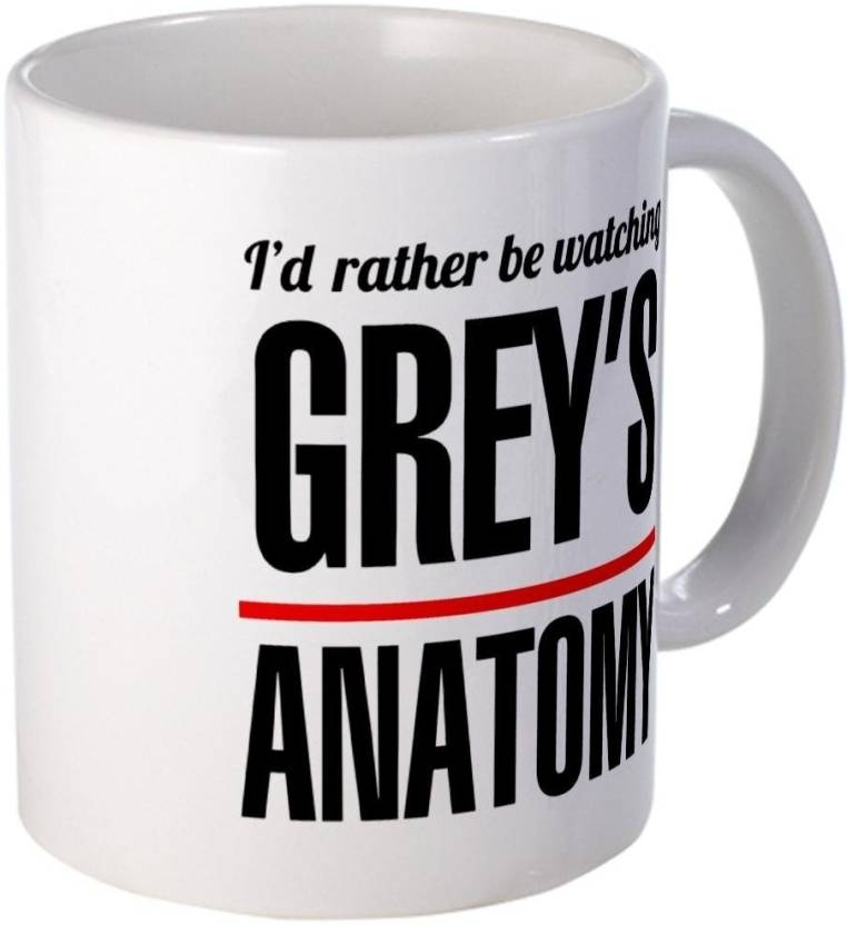 Teeskart Id Rather Watch Grey\'s Anatomy Porcelain Mug Price in India ...