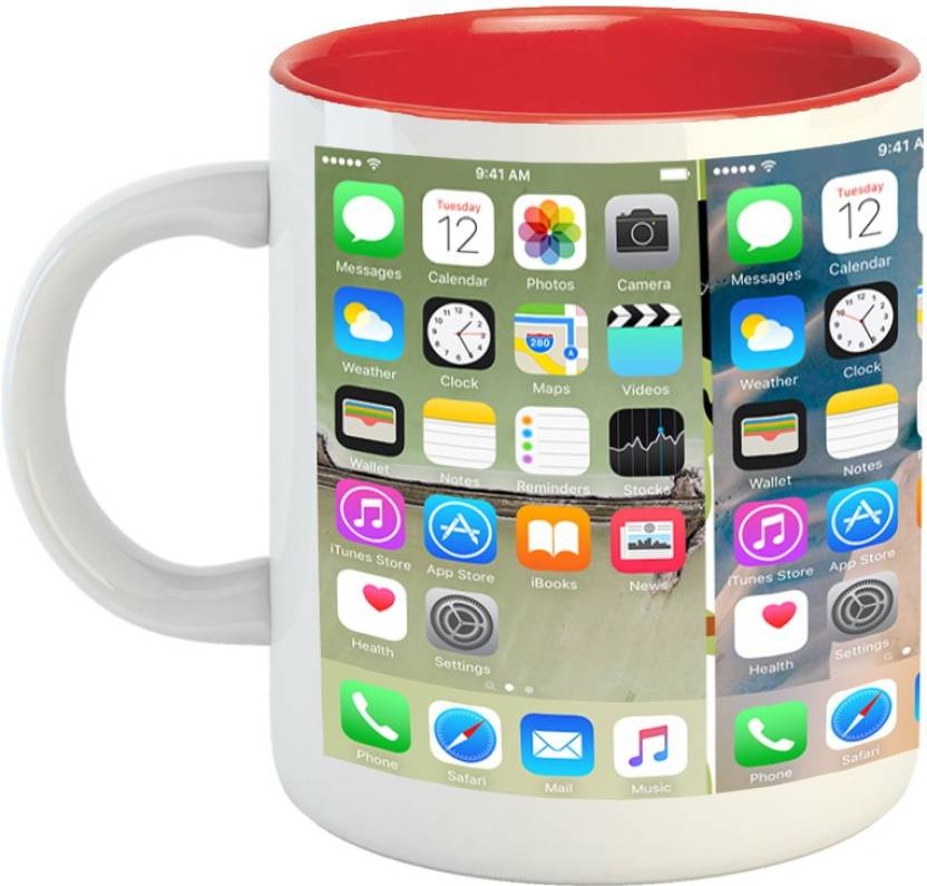 Emerald Inner Red Iphone Wallpaper Ceramic Mug