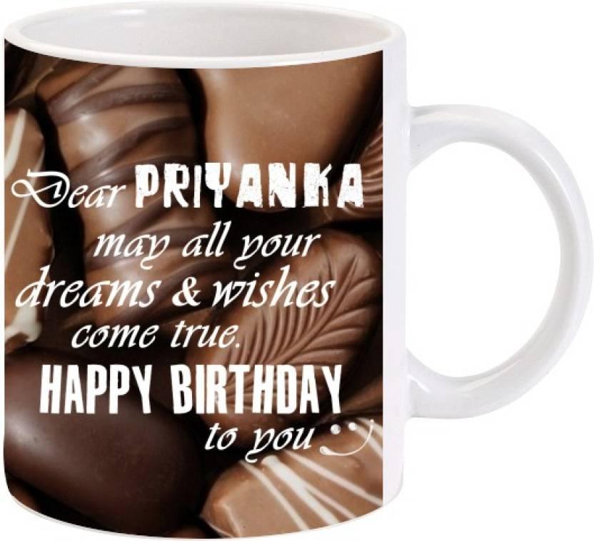 Lolprint Happy Birthday Priyanka Ceramic Mug