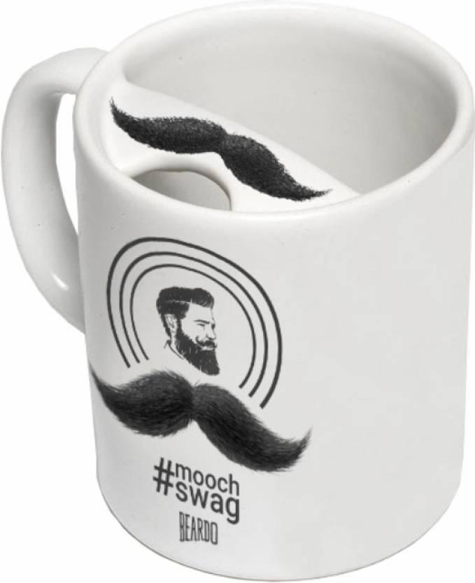Beardo Mooch Swag Coffee/Tea (Protect the Stache) Ceramic Mug