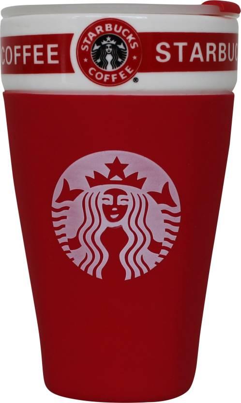 Urban Turban Starbucks Red Coffee With Lid Ceramic Mug