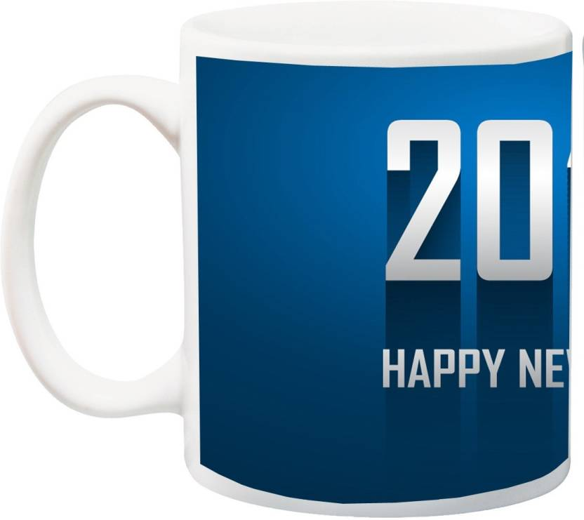 mehappy new year printed ceramic