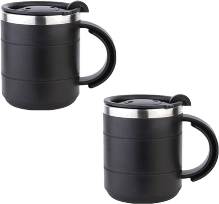Tuelip Stainless Steel Black Mug