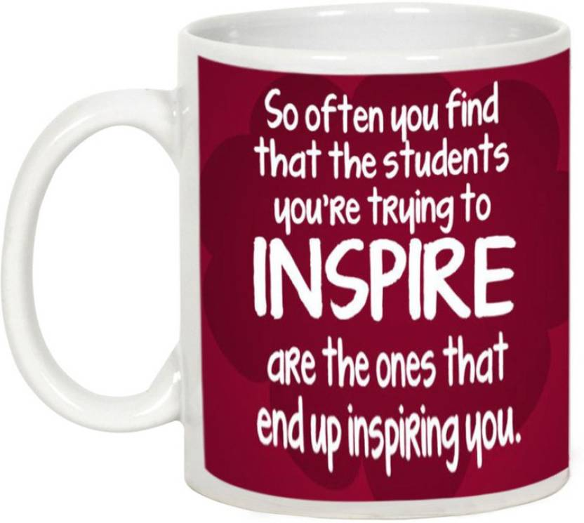 AllUPrints Teacher Inspire Us Ceramic Mug