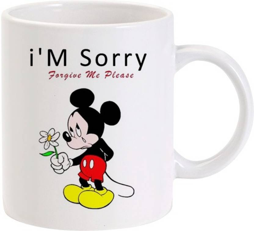 lolprint i am sorry mickey mouse ceramic mug