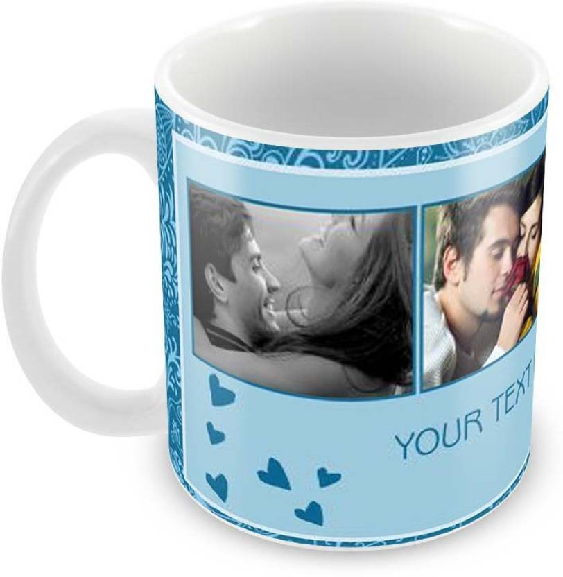Printkaro Pk1096 Gift For Husband Or Wife Personalised Birthday Ceramic Mug 400 Ml