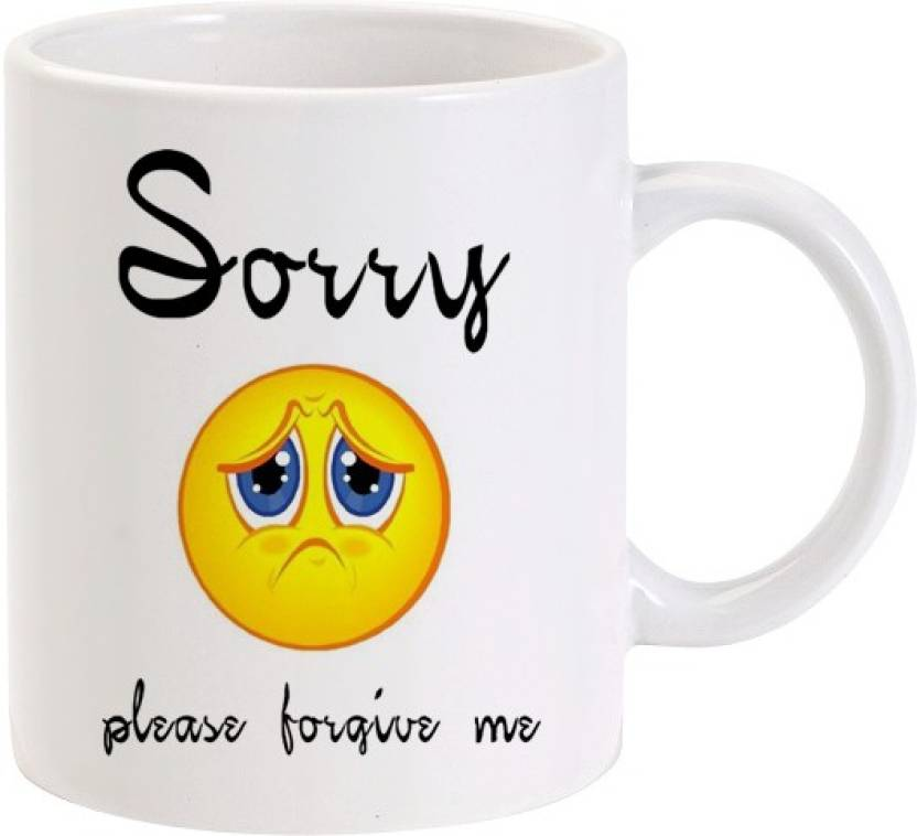 Lolprint Sorry Please Forgive me Sad Face Ceramic Mug