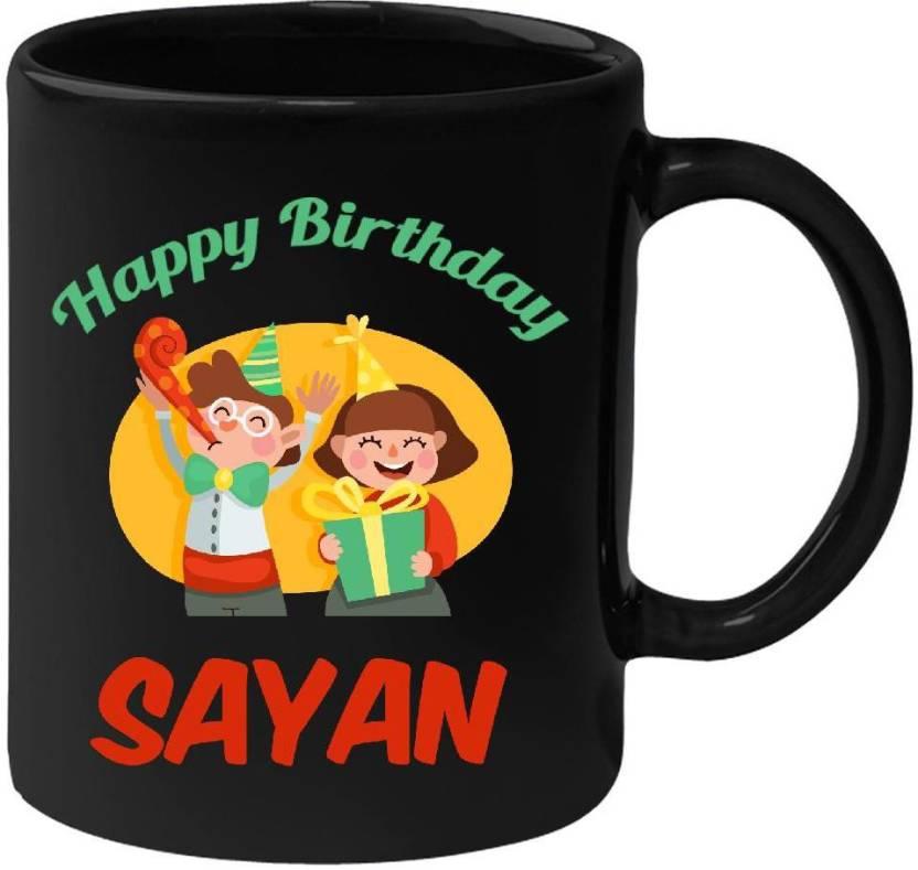 huppme happy birthday sayan black 350 ml ceramic mug price in