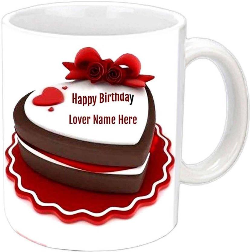 Raj Laxmi Birthday Cake Lovers B Day White Mug Ceramic Mug Price In