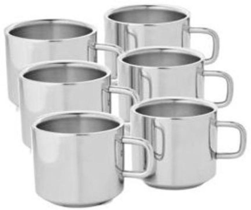 Double Walled Ceramic travel mug Tea Coffee Bags under my eyes design Great gift