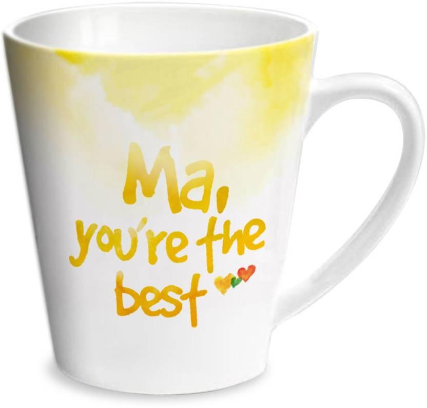 Hot Muggs Good Morning Mom Ceramic Mug Price In India Buy Hot