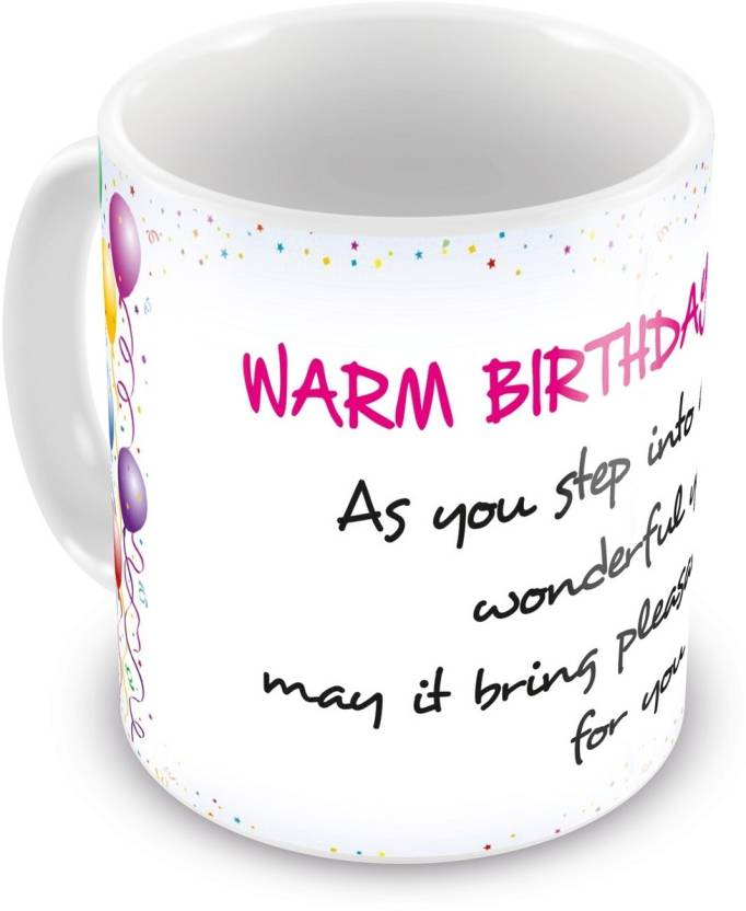 Everyday Gifts Happy Birthday Gift For Warm Birthday Wishes Ceramic Mug Price In India