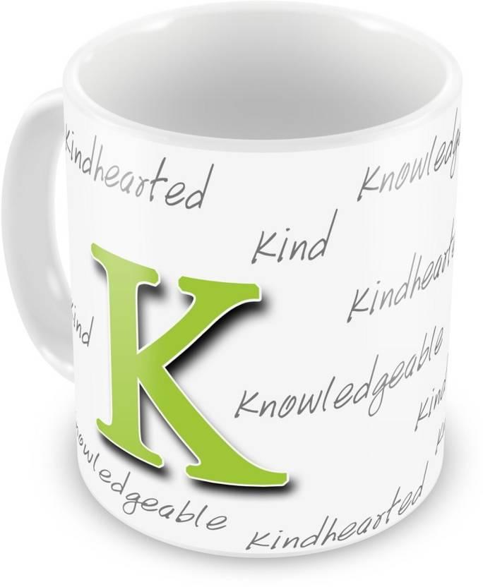 everyday gifts happy birthday gift for starting letter k ceramic mug