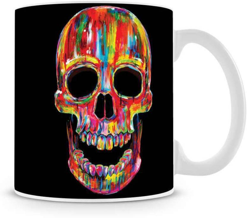 12b659f7b31 Saledart Mg489-Beautiful Colorful Ghost Head Painting Background Wallpaper Ceramic  Mug (300 ml)