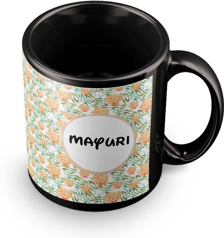 Posterchacha Mayuri Floral Design Name Ceramic Mug Price In India