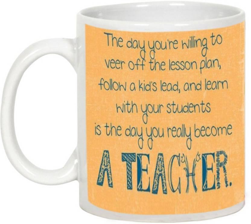 AllUPrints Become A Teacher Ceramic Mug