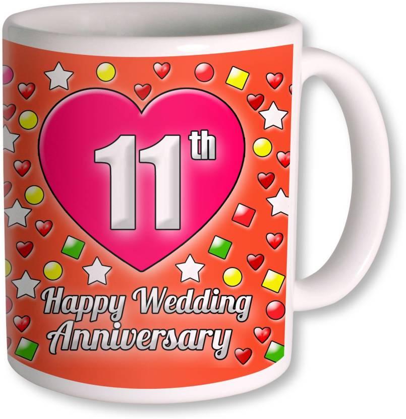 Photogiftsindia Gifts For 11th Wedding Anniversary Coffee Ceramic