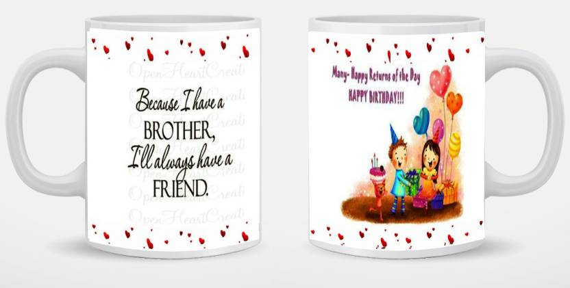 AG PRINTED BIRTHDAY GIFT TO BROTHER Ceramic Mug 350 Ml