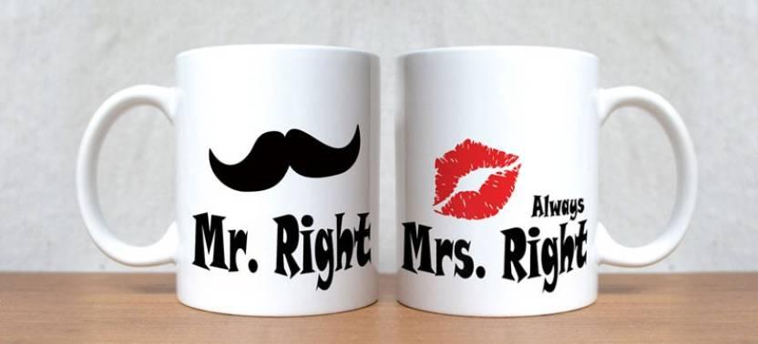 Stybuzz Mr Right And Mrs Always Porcelain Mug