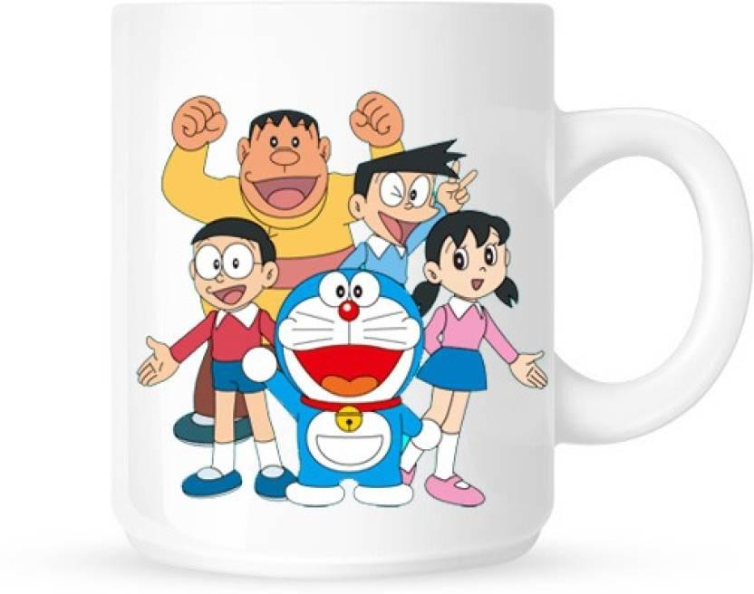 hainaworld doraemon family coffee ceramic mug price in india buy
