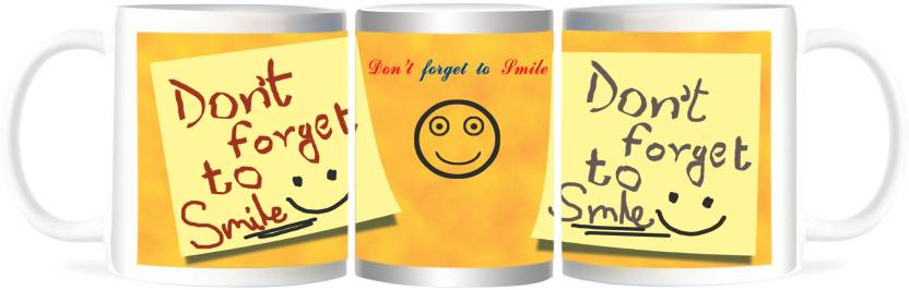 Refeel Gifts Don?t Forget To Smile Quote Ceramic Mug Price