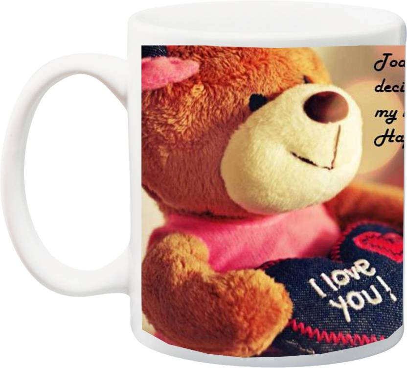 MEYOU Birthday Gift For WifeDaughterGirlfriend Ceramic Mug 350 Ml