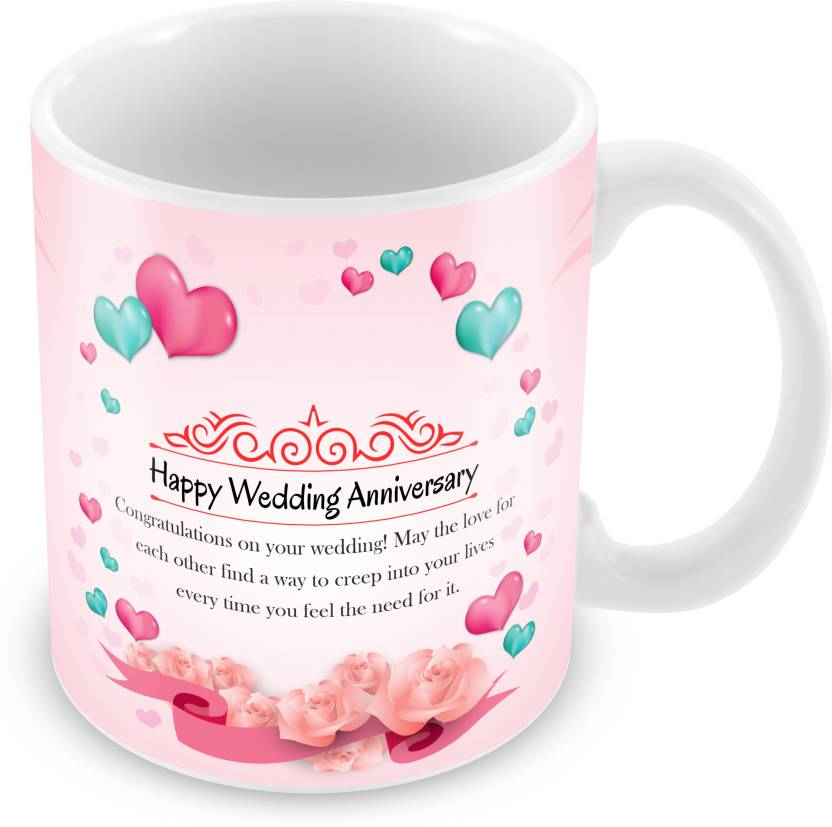 Prinzox Attractive Color Wedding Anniversary Theme With Nice Message